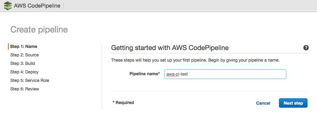 AWS CodePipeline anlegen
