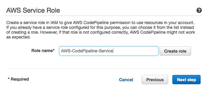 CodePipeline Service Rolle