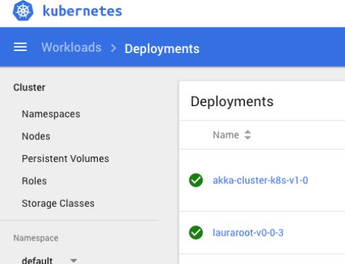 Deployment eines akka Cluster auf AWS EKS (Kubernetes)