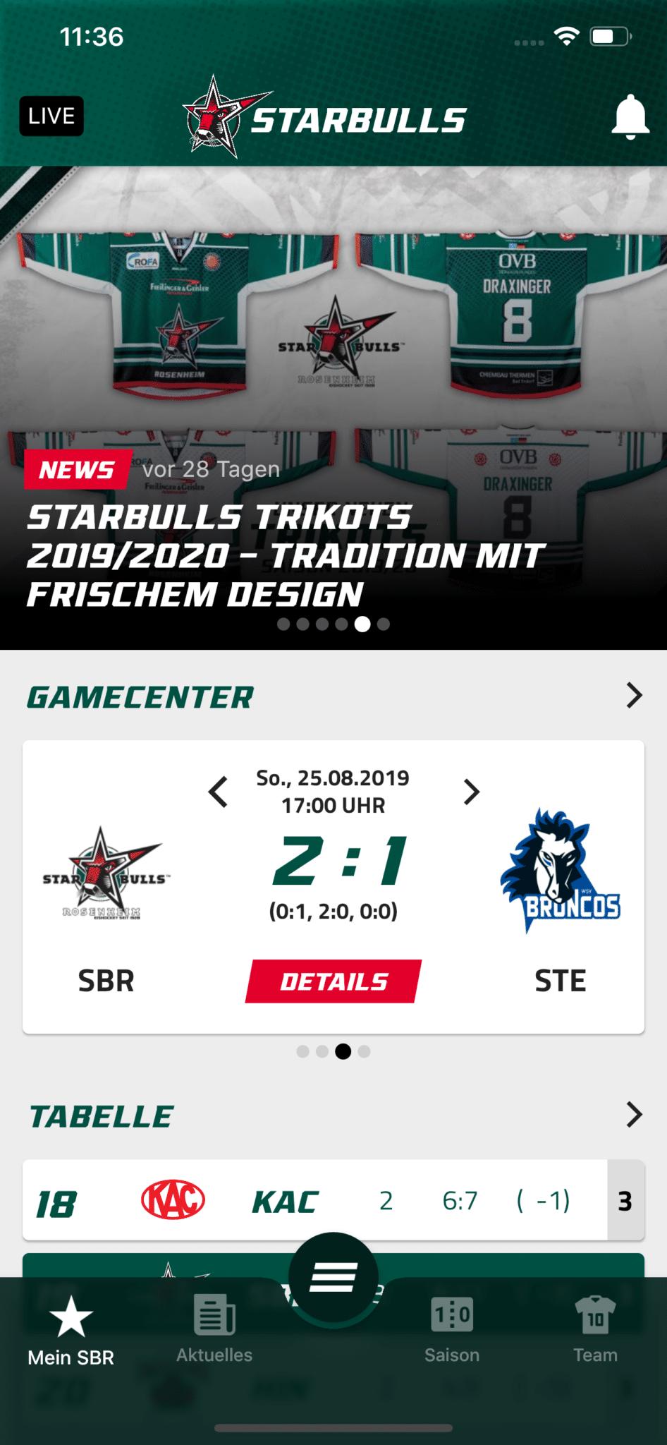 Home Starbulls App