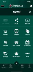Starbulls App Navigation