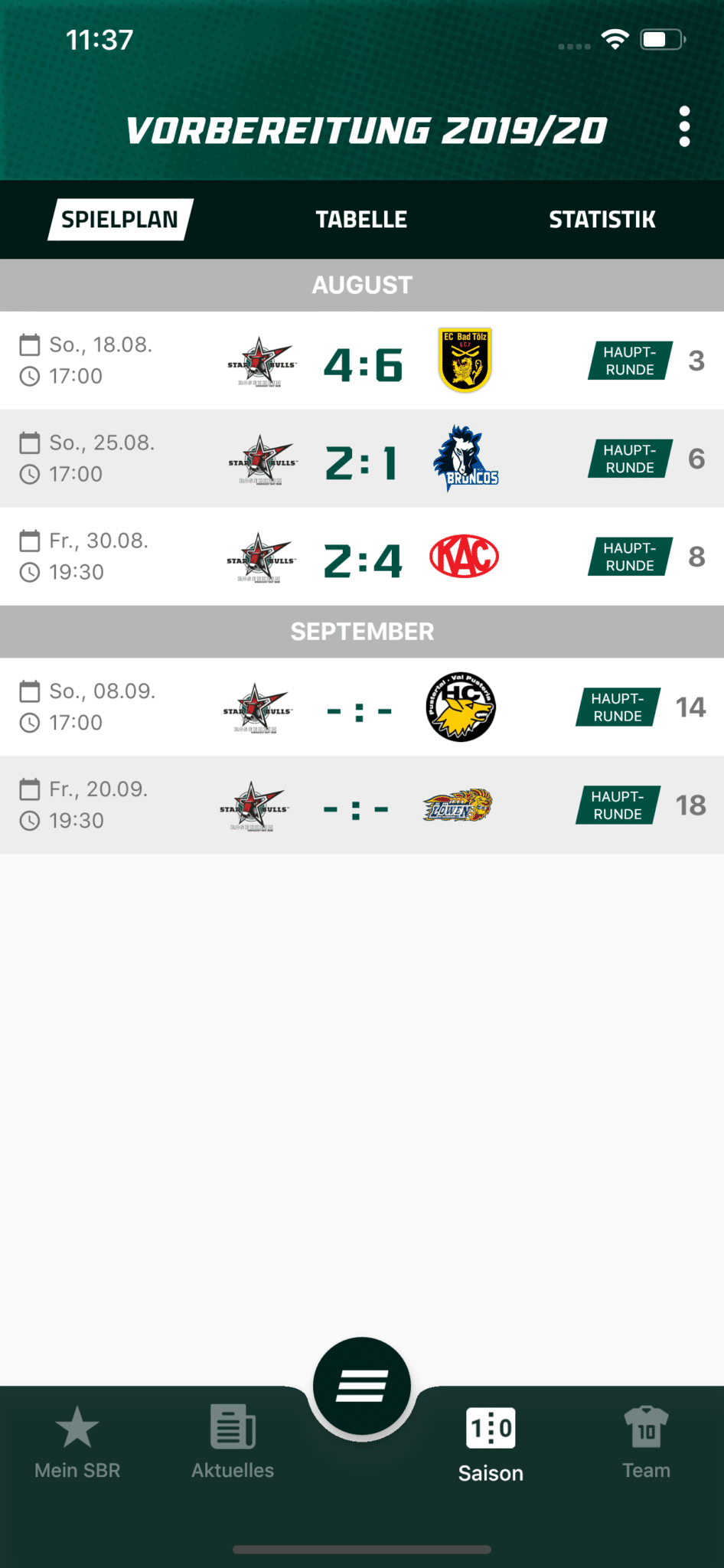 Eishockey Tabelle