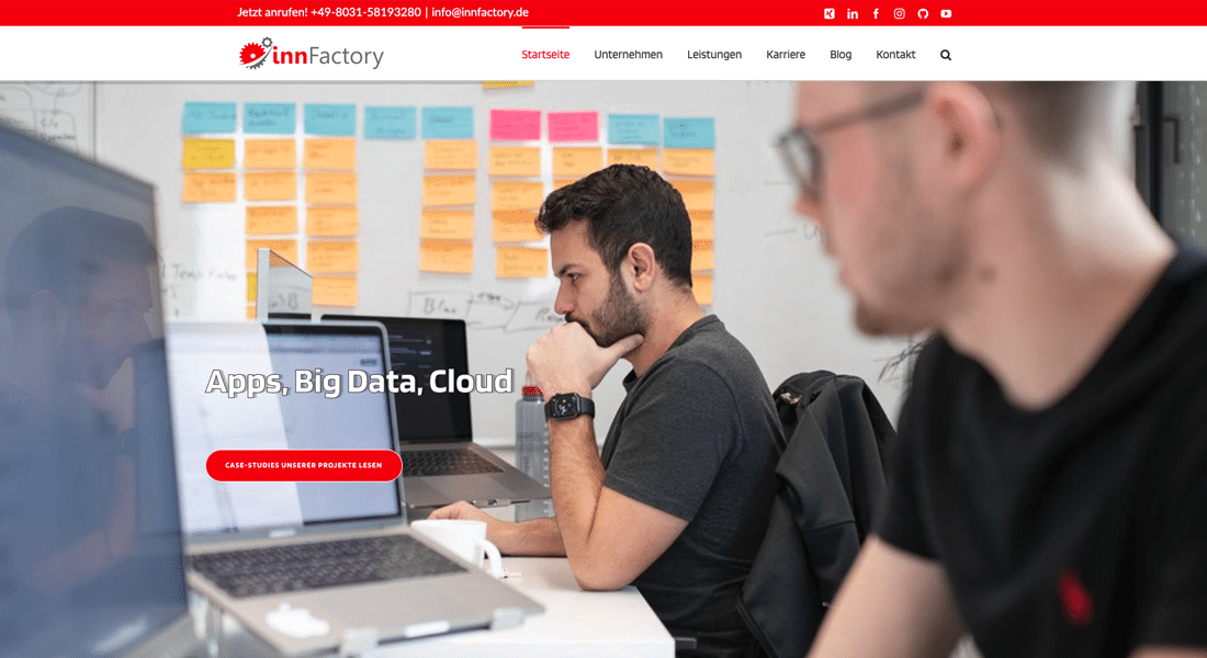 Neue Webseite innFactory